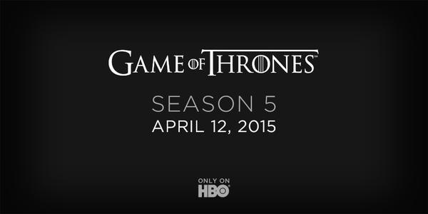 Game of Thrones'un 5. Sezon Başlangıç Tarihi Açıklandı
