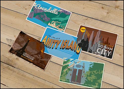 Ünlü Hayali Mekanlar Kartpostal Oldu