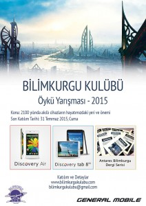 bilimkurgu kulubu 2015 yarisma poster