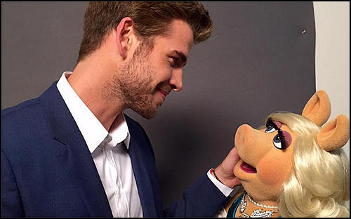 Liam Hemsworth Muppet Show'da!