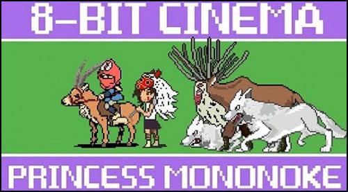 8-bitlik Princess Mononoke Filmi Sizi Kalbinizden Vurmaya Hazır