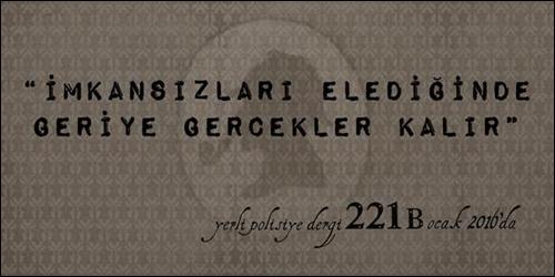 Yeni Polisiye Dergisi 221B Geliyor!