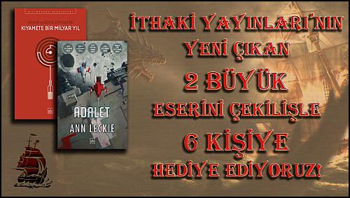 """İthaki Yayınları Ortaklığında, """"Adalet"""" ve """"Kıyamete Bir Milyar Yıl"""" İçin 3 Farklı Çekiliş Başladı!"""