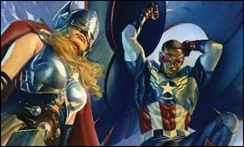 Thor ve Captain America, Ocak 2016 Sayısında Bir Öpücüğün İki Yarısı