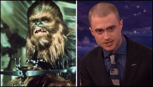 Daniel Radcliffe, Star Wars VII Gösterimine Wookiee Olarak Gitmek İstiyor