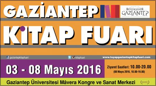 Gaziantep Kitap Fuarı 3 Mayıs'ta Başlıyor!