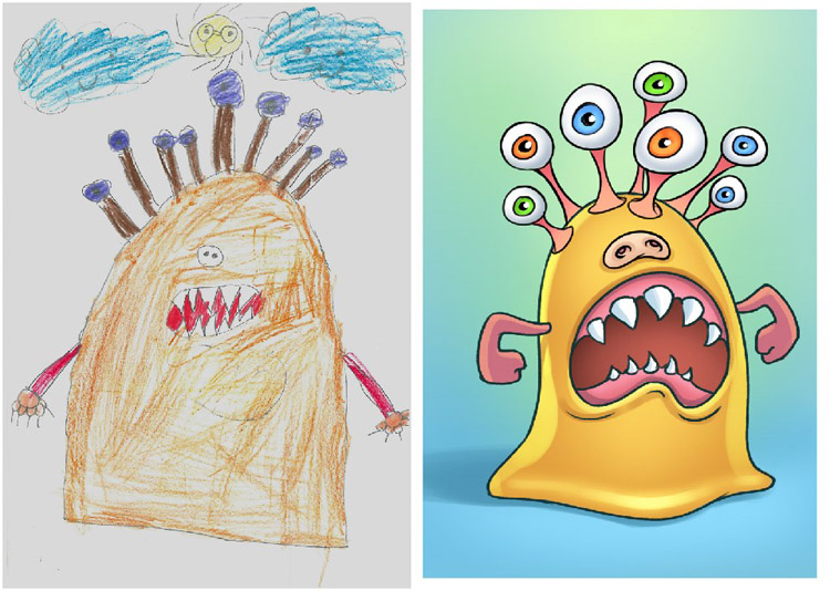Monsters-by-Kids-Faruk-Tarinc