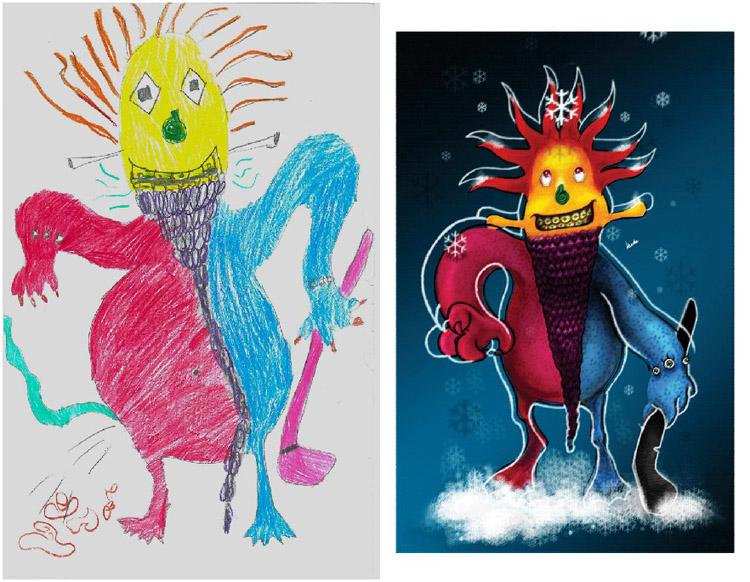 Monsters-by-Kids-Hilal-Kurbe